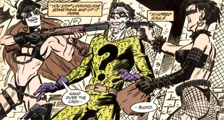 Query and Echo (Batman Ridder DC Comics) BDSM post-apocalypse costumes