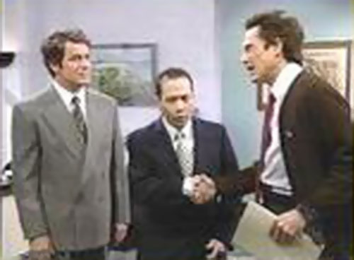 Christopher Walken as Ed Glosser the trivial psychic (SNL) meeting two men in suits
