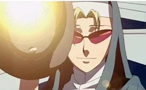 Eda (Black Lagoon) as a nun face closeup