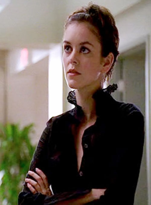 Eden McCain (Nora Zehetner in Heroes) with a black blouse