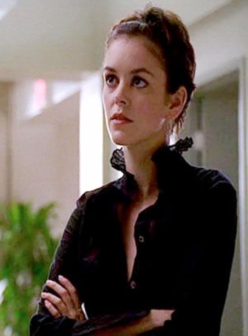 Eden McCain (Nora Zehetner in Heroes) with a black blouse