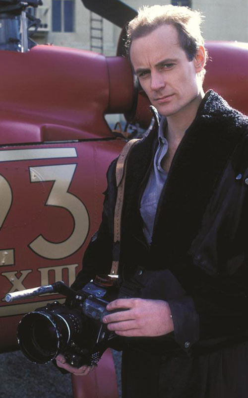 Edison Carter (Matt Frewer in Max Headroom) with his camera