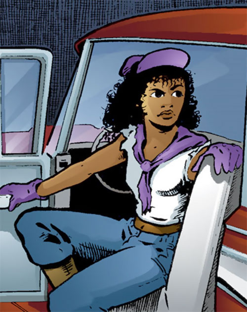 Edsel (Matt Wagner's Mage comics) getting out of her car