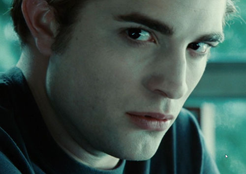 Edward Cullen (Robert Pattinson in Twilight movies) face closeup