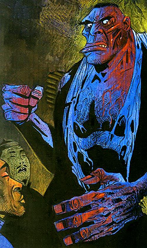 A bloodied Edward Hyde (League of Extraordinary Gentlemen) in the opium den