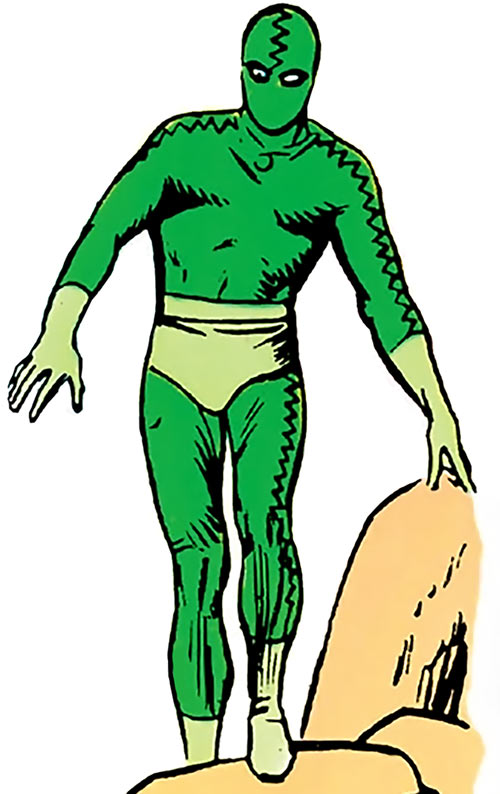 Eel (Marvel Comics) (Leopold Stryke) 1965 green costume