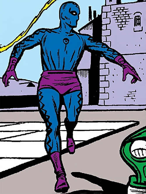 Eel (Stryke) (Marvel Comics) with the blue and purple costume