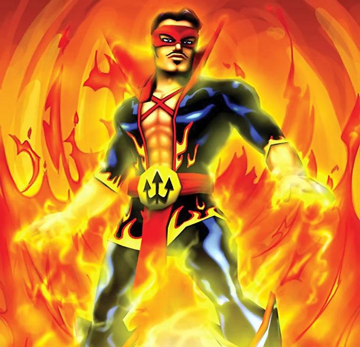 El Diablo (Freedom Force) standing in fire