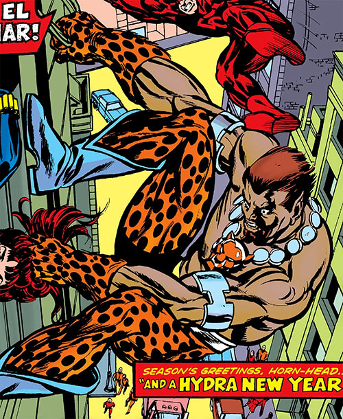 El Jaguar of Hydra (Marvel Comics) vs. Daredevil and the Black Widow