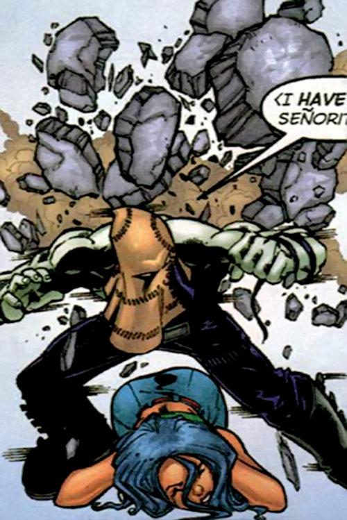 El Muerto (Planet DC Comics) saves a young woman