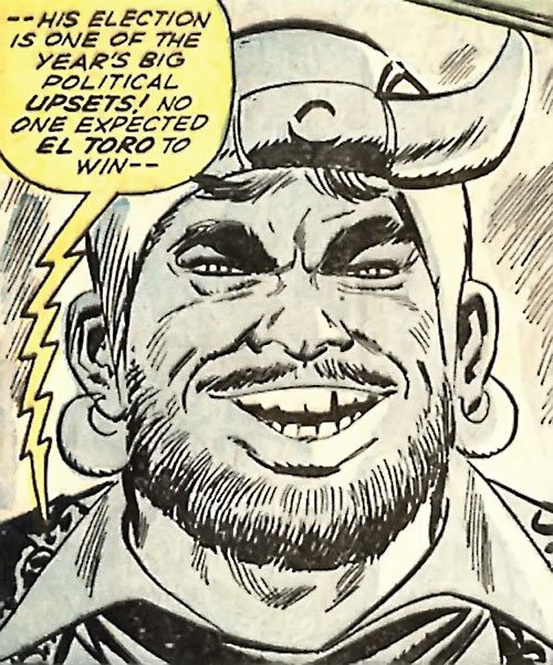 El Toro (Avengers enemy) (Marvel Comics) B&W face