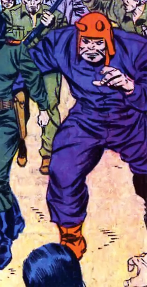 El Toro (Avengers enemy) (Marvel Comics) in a purple jumpsuit