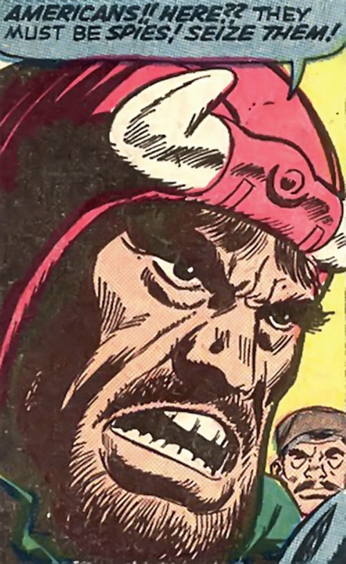 El Toro (Avengers enemy) (Marvel Comics) face closeup