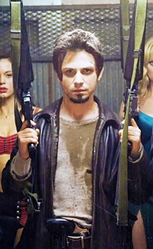 El Wray (Freddy Rodriguez in Planet terror) dual-wielding M16s