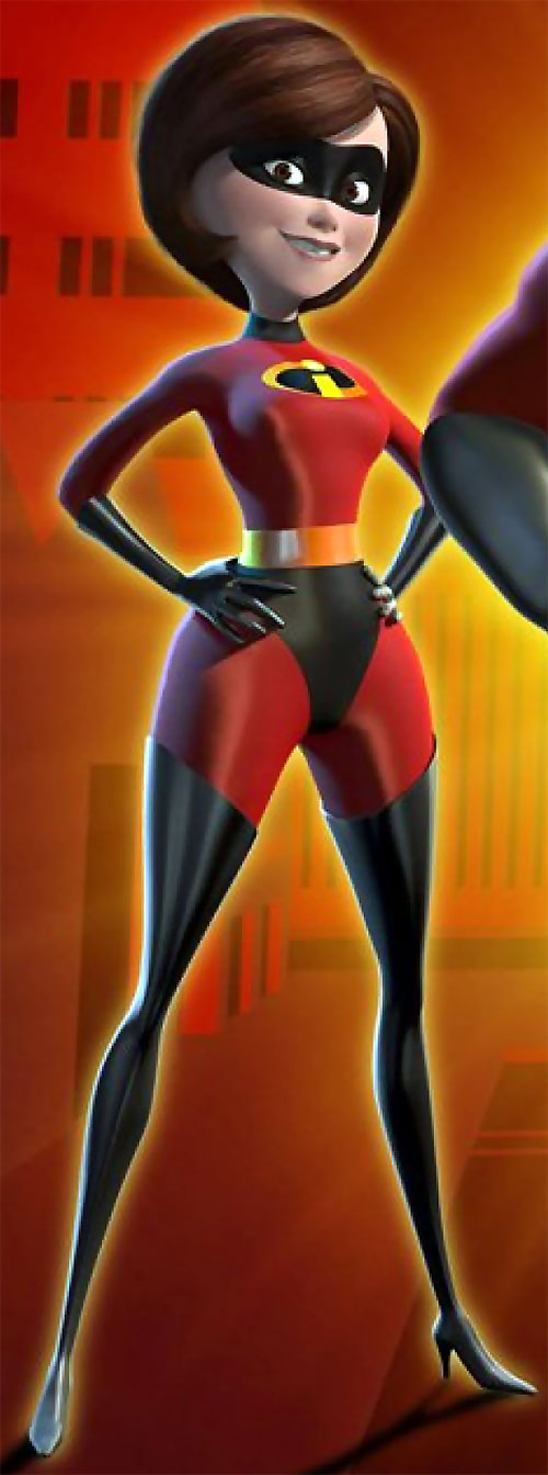 Elastigirl aka Mrs. Incredible (Pixar) with hands on her hips
