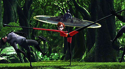 Elastigirl aka Mrs. Incredible (Pixar) fighting