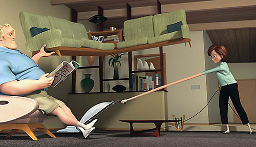 The Incredibles (Pixar) (Helen and Bob Parr) at home