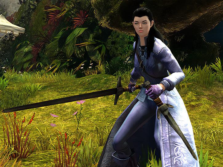 Elegant Fox Spirit with sword and dagger