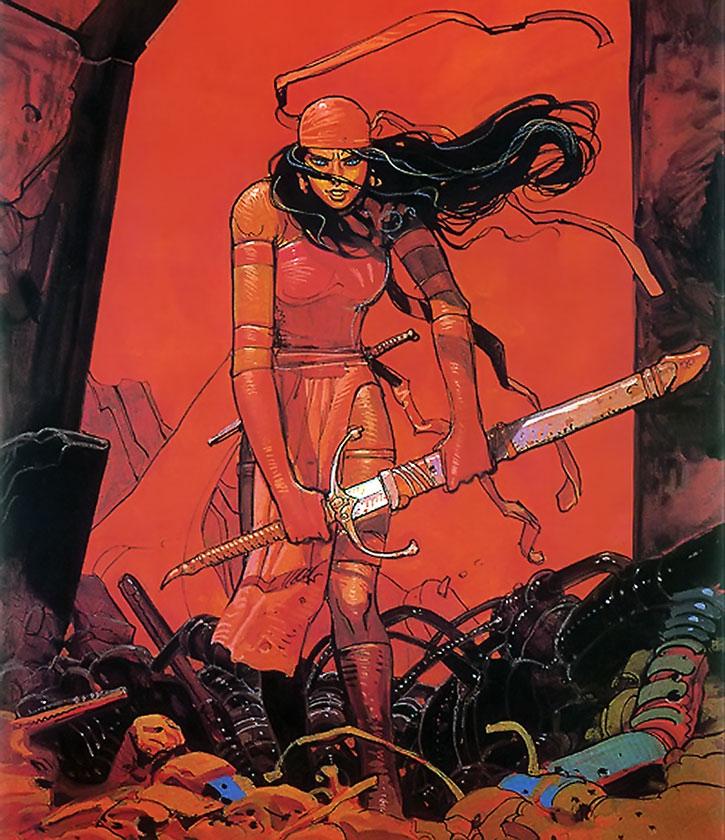 Elektra art by Moebius