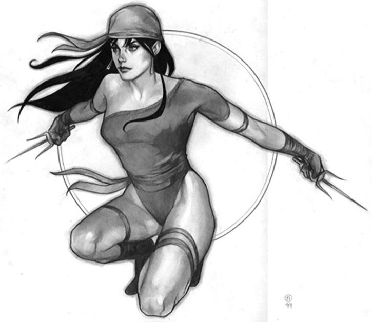 Elektra drawing by Phil Noto