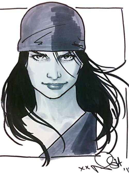 Elektra (Marvel Comics) portrait by Phil Noto