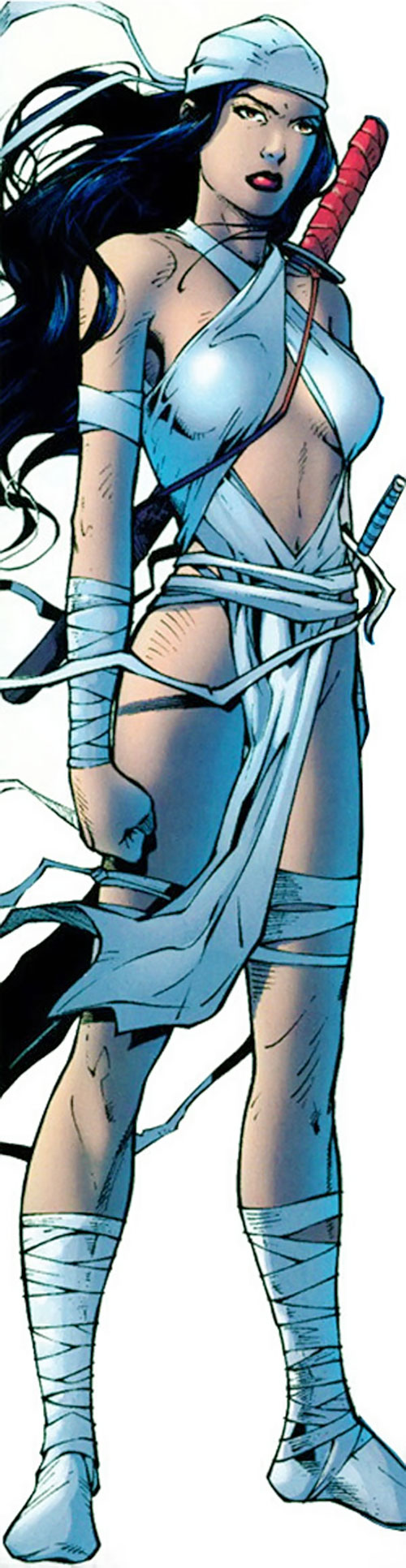 Elektra (Marvel Comics) in white