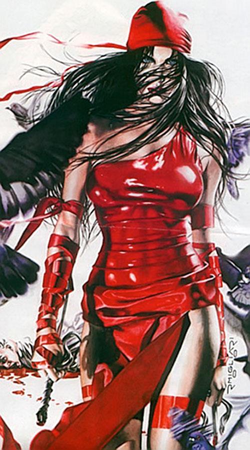 Elektra (Marvel Comics) by Rodolfo Migliari