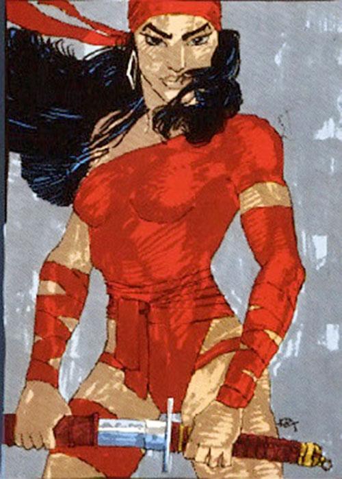 Elektra (Marvel Comics) Resurrection art