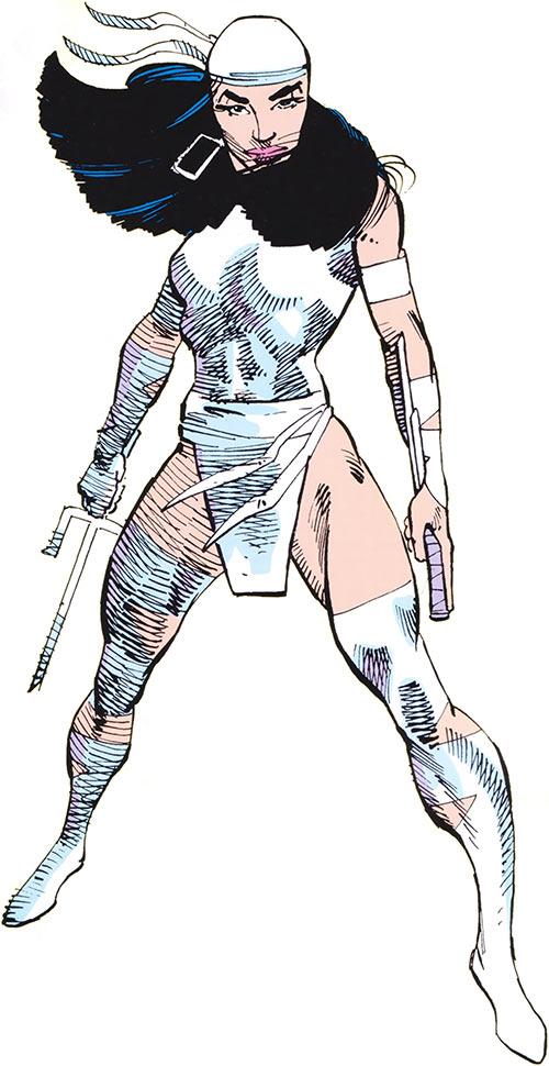 Elektra in the 1983 Official Marvel Comics Handbook