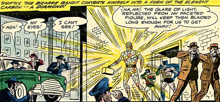 Elemental Man (DC Comics) (Batman enemy) blinding diamond form