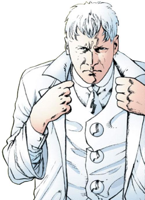 Elijah Snow of Planetary adjusting his vest