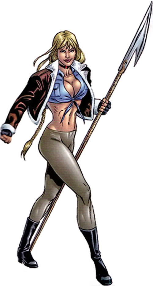 Elsa Bloodstone (Marvel Comics) (Early) with a polearm glaive