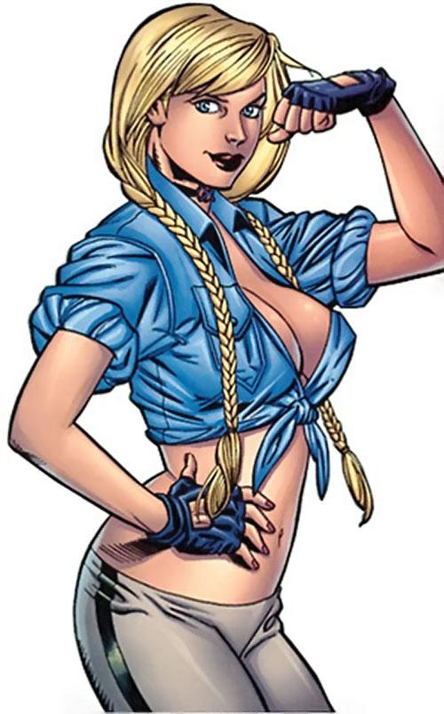 Elsa Bloodstone (Marvel Comics) (Early) flexing