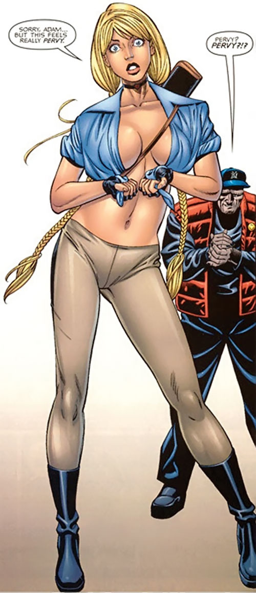 Elsa Bloodstone (Marvel Comics) (Early) trying her adventurer outfit