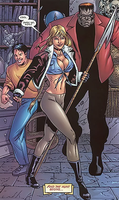 Elsa Bloodstone (Marvel Comics) (Early) and her early crew