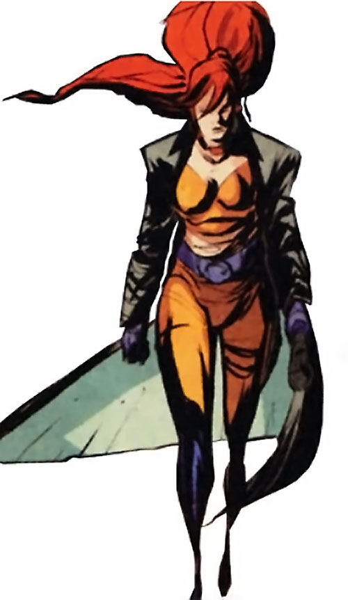 Elsa Bloodstone (Marvel Comics after Nextwave) with a trench coat