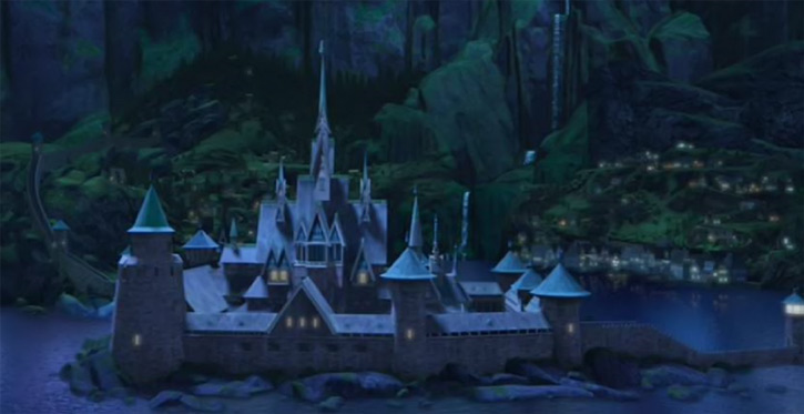 Arendelle by night in Disney's Frozen