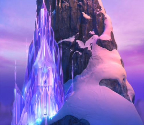 The ice castle in Disney's Frozen