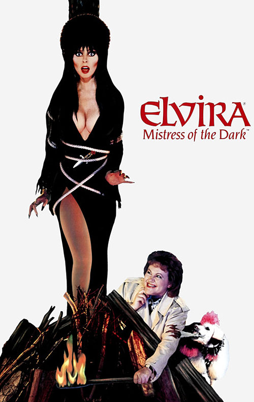 Elvira Mistress of the dark (Cassandra Peterson) movie poster
