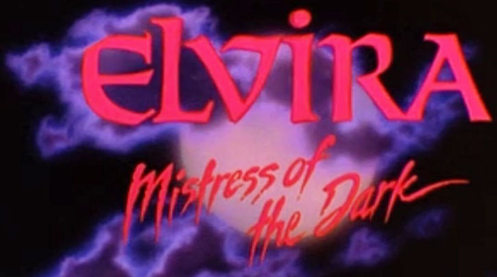 Elvira Mistress of the Dark title card