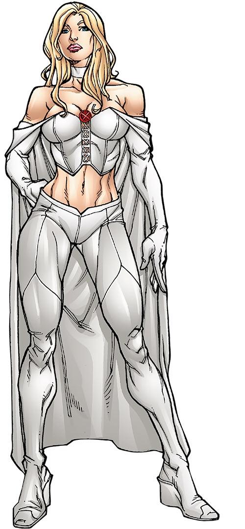 Emma Frost - Marvel Comics - X-Men - mutant heroes sourcebook art