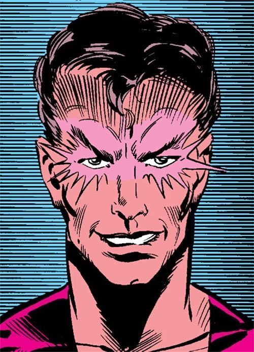 Empath of the Hellions (Marvel Comics) with eyes glowing