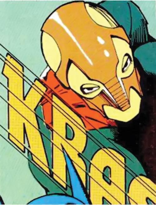 Enforcer (DC Comics) mask closeup