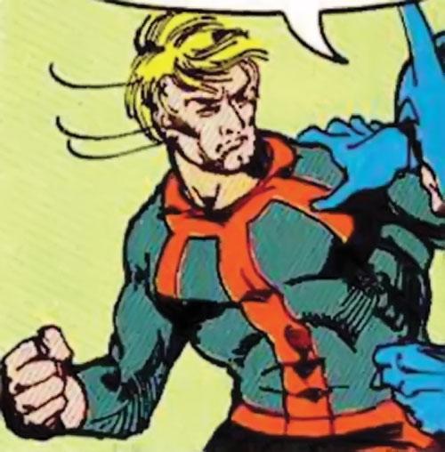 Enforcer (DC Comics) unmasked vs. Batman