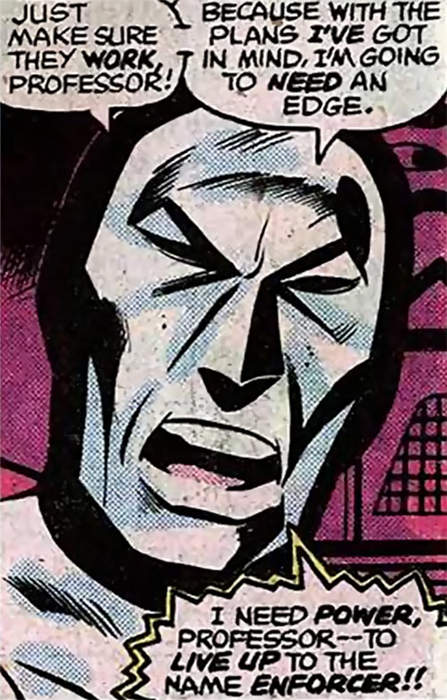 Enforcer (Marvel Comics) 1977 mask