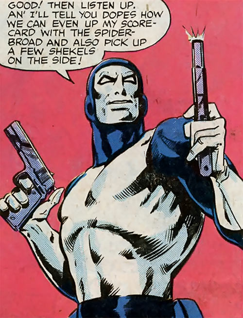 Enforcer (Marvel Comics) brandishing pistols