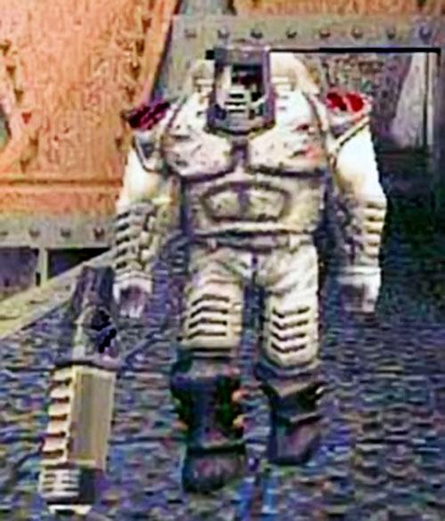 Quake Enforcer on a bridge