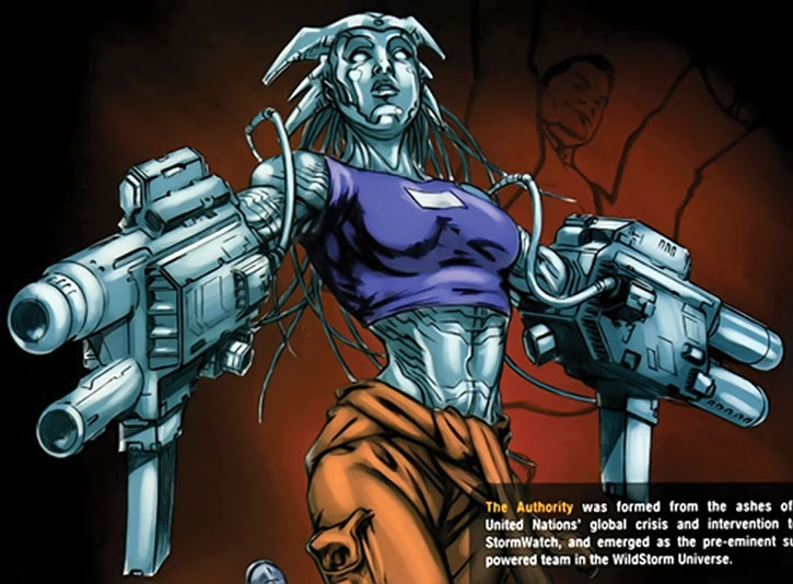 The Engineer (Angela Spica) with gun-arms