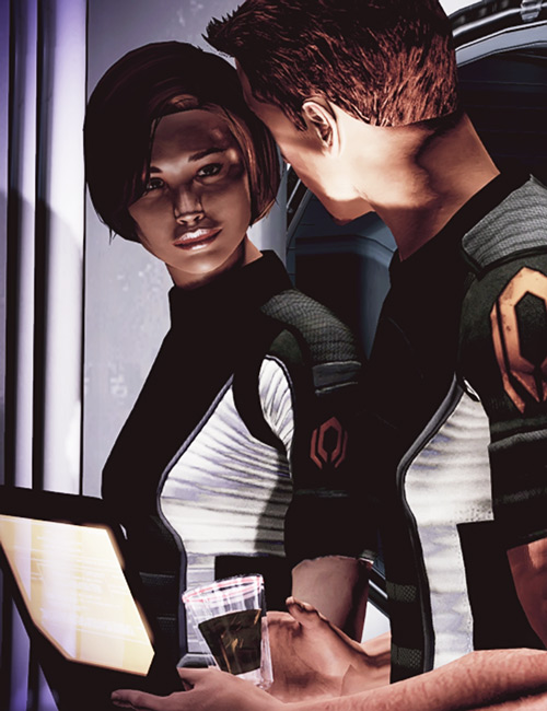 Daniels and Donnelly (Mass Effect) chatting