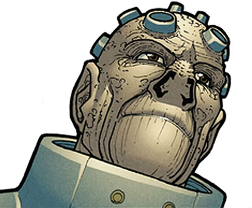 Enos from Halcyon (Image Comics) head closeup